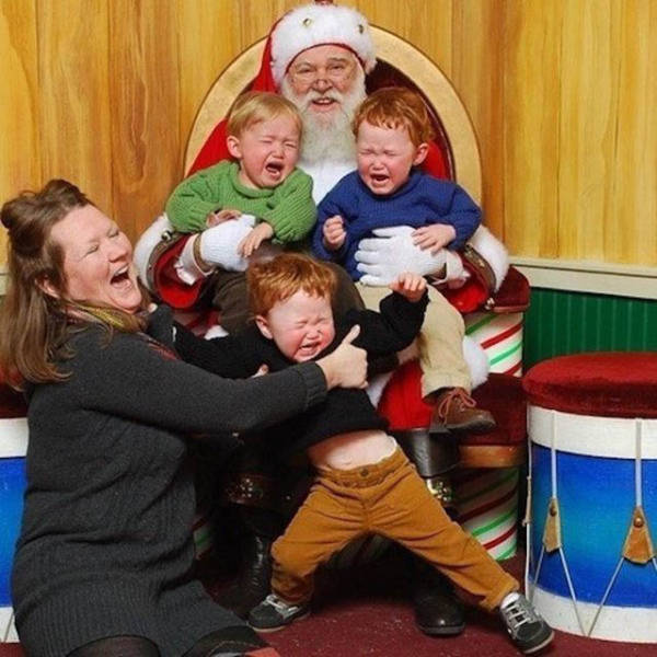 Kids Who Are Not Very Fond Of Santa