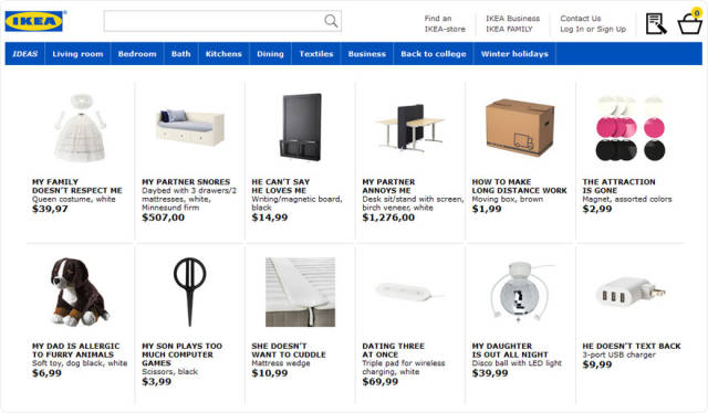 IKEA Comes Up With a Brilliant Idea To Rename Their Products After the Most Googled Relationship Problems