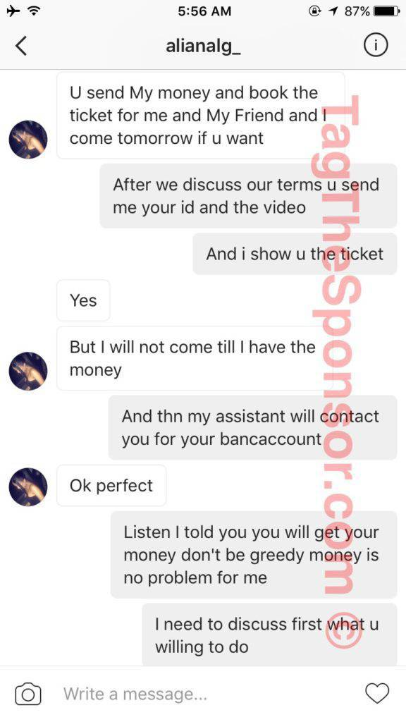 Sleazy Instagram Model Who Agreed To Take 13 Year Old's Virginity Gets Exposed