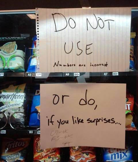 Nothing Makes You More Pissed Than A Vending Machine That Doesn't Function Correctly