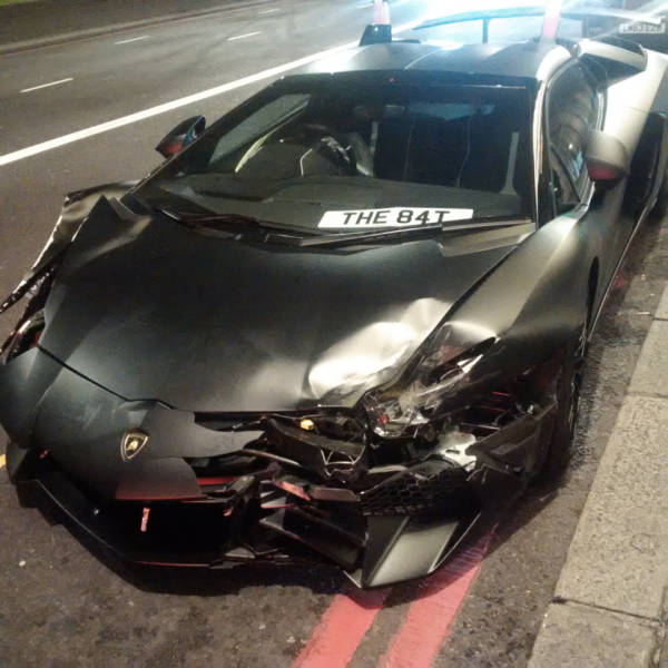The Batmobile-Style Supercar Gets Abandoned On The London Streets After The Accident