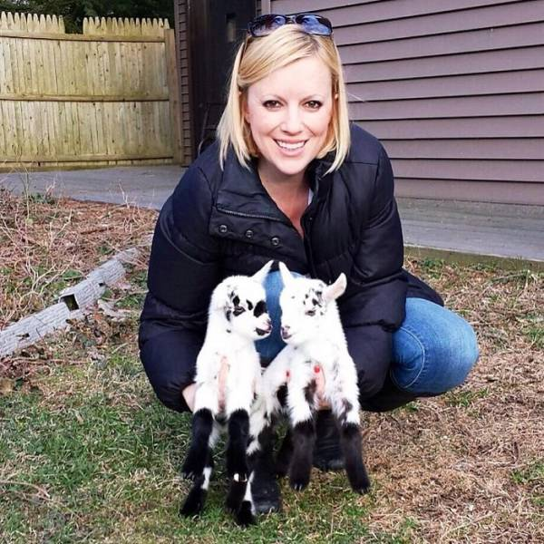 Woman Quits Her Job To Raise Baby Goats With Special Needs