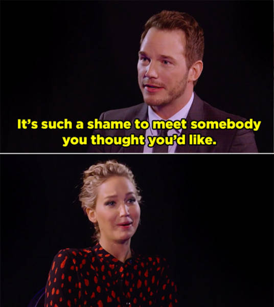 Jennifer Lawrence And Chris Pratt Know How to Destroy Everything Their Opponent Holds Dear. Even Using Words Only