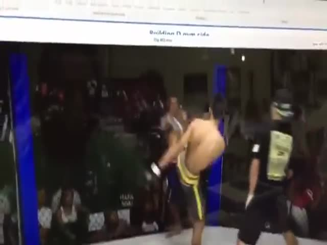 Sometimes Fighters Just Can't Have Enough Of The Fight