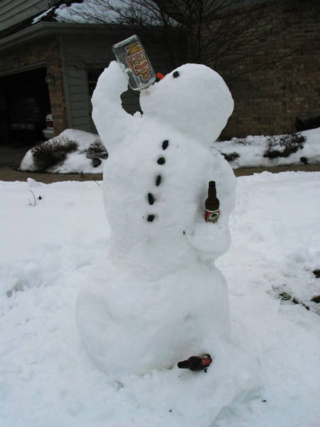 When Even A Snowman Becomes A Piece Of Art