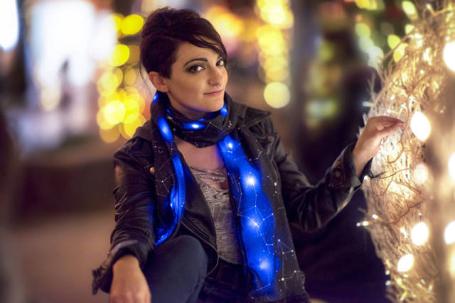 You Will Look Like A Star With This Cosmic Scarf