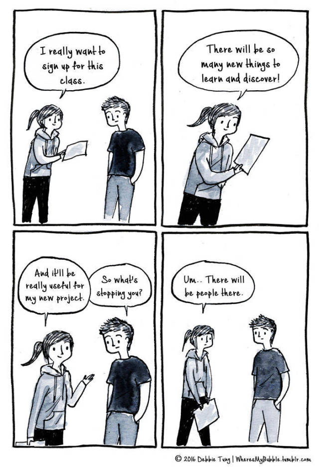 Comics By Debbie Introduce Introversion… When You Are The One Who Understands You Best
