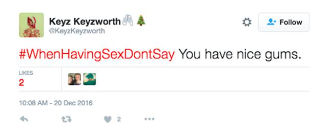 #WhenHavingSexDontSay: Twitter Knows What You Definitely Should NOT Say If You Want To Have A Good Time