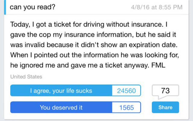 These FML Stories Will Show You How Awful One's Life Can Be Sometimes