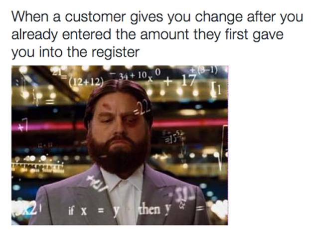 working at customer service