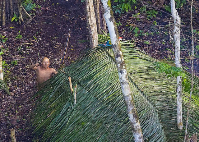 Photographer Catches A Few Shots Of An Amazonian Tribe Which Has Never Contacted With Our Civilization Before