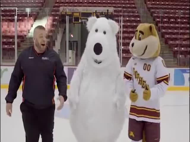 This Hockey Mascot Really Shouldn't Play For The Team He Supports