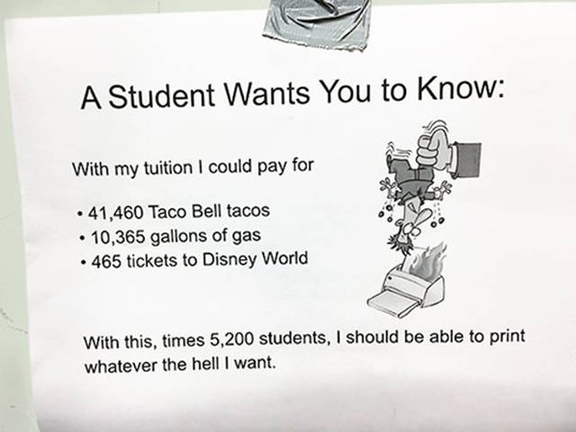 Student Just Brutally Destroys His College Administration's Greedy Policy
