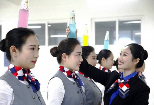 China Definitely Cares About Their Airflight Passengers If Attendants Are Trained This Way