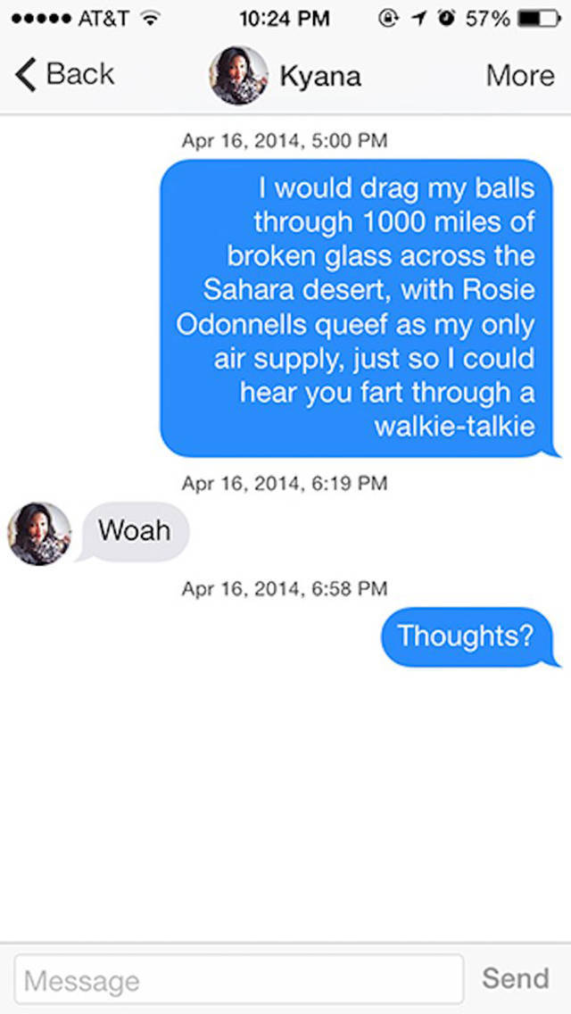 Tinder Was Made For These Super-Awkward Conversations, Wasn't It?