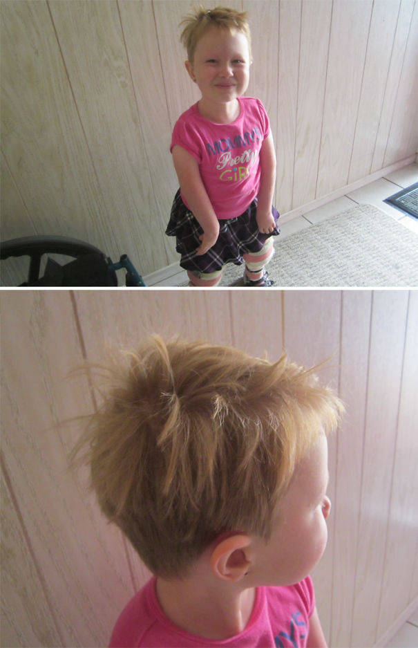 Kids Always Think They're The Best Hairdressers For Themselves. How Wrong Can They Be…